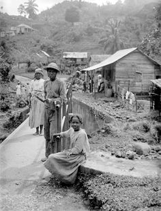 Jamaica, Maroons. They were escaped slaves who defeated the British in two wars. Photograph from collection of Sir H.H. Johnston, a government administrator and an anthropologist.