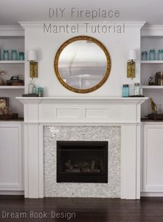 How to diy a fireplace mantel. Also using a great money saver of a ventless gas fireplace!