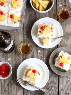 Pina Colada Tres Leches Cake
