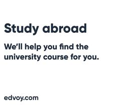 Edvoy is an innovative education platform for Indian students. We can help you to find the best study abroad programs to achieve your international studies. University Courses, Study Abroad, Students, How To Apply, Platform, Education, City, Wedge, Cities