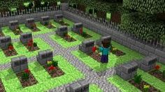 Minecraft Graveyard But use the worth path for the top of the graves Villa Minecraft, Château Minecraft, Architecture Minecraft, Construction Minecraft, Minecraft Welten, Minecraft Medieval, Minecraft House Designs, Minecraft Survival, Amazing Minecraft