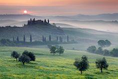 Tuscan Sunrise by Martin Rak, via 500px