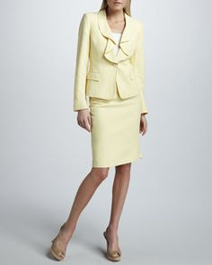Tweed Suit by Albert Nipon at Neiman Marcus.