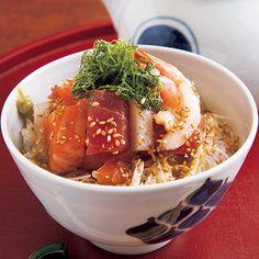 海鮮丼の加賀茶漬け