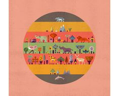 Book illustration for The Where, The What & The How by Lotta Nieminen for Chronicle Books — Agent Pekka Graphic Design Illustration, Illustration Art, All Animals Photos, Lotta Nieminen, Lagom Design, Painting For Kids, Illustrators, Photo Art, Flat Design