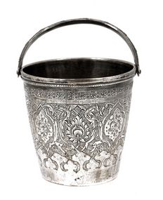 Old Persian silver bucket