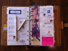 Thoughts & Exploration: Filofax Set-Up (Inaugural Blog Post!!)    That ruler... *gush*