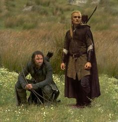 Legolas and Aragorn... because I love the Lord of the Rings and Legalos and Aragorn are my favorites.