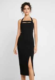 Even&Odd Cocktail dress / Party dress - black for Free delivery for orders over Wal G, Even And Odd, Neck Pattern, Fabric Material, Party Dress, Cocktails, Mens Fashion, Dresses, Dress Black