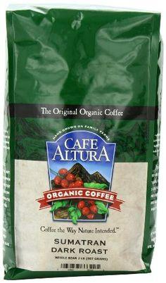 Cafe Altura Organic Coffee, Sumatran Dark Roast, Whole Bean, 32-Ounce Bag - http://goodvibeorganics.com/cafe-altura-organic-coffee-sumatran-dark-roast-whole-bean-32-ounce-bag/