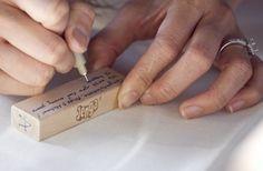 firma de invitados en jenga