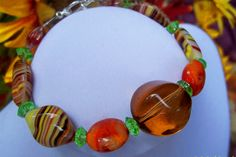 Orange Flurry Bracelet Free Shipping in USA by bbcreations on Etsy, $15.00