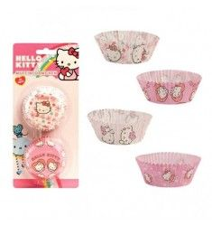 50 caissettes à Cupcakes Hello Kitty Anniversaire Hello Kitty, Chat Hello Kitty, Planter Pots, Cupcake Liners, Disposable Tableware, Plant Pots