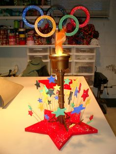 Setting the Mood: Olympic Centerpiece