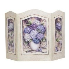 Hydrangea Shabby Chic Fire Screen