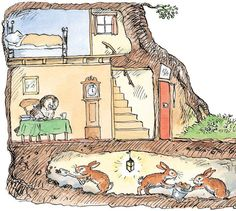 So Rabbit, aided by Friends and Relations, burrowed under Owl's house
