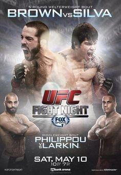 Os 10 melhores pôsteres do UFC (UFC Fight Night - Brown vs Silva)