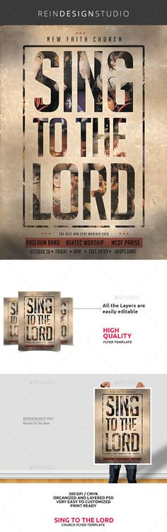 Sing to the Lord Church Flyer Template PSD #design Download: http://graphicriver.net/item/sing-to-the-lord-church-flyer/13093148?ref=ksioks