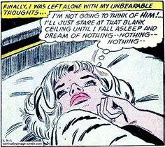 "Comic Girls Say.."" I'm Not Going To Think Of Him...."" #comic #vintage #popart"