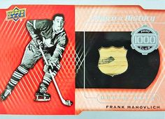 A Piece of History 1000 Point Club Frank Mahovlich Hockey Cards, Baseball Cards, Young Guns, Upper Deck, Club, History, Sports, Hs Sports, Sport