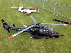 Huge Turbine Powered RC Helicopter at Turbine Jet meeting in Feurs, Fran...