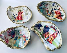Seashell Painting, Seashell Art, Seashell Crafts, Beach Crafts, Diy Home Crafts, Oyster Shell Crafts, Oyster Shells, Summer Dessert Recipes, Summer Crafts For Kids