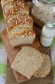 Koskacukor: Zabpelyhes kalács Bakery, Rolls, Bread, Breakfast, Food, Diet, Morning Coffee, Buns, Brot
