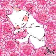 Sleepy white cat (=-ω-=) zZ . Sleepy white cat (=-ω-=) zZ . Manga Kawaii, Kawaii Cat, Kawaii Anime Girl, Cute Anime Cat, Cute Cat Drawing, Cute Animal Drawings Kawaii, Cute Drawings, Animes Wallpapers, Cute Wallpapers