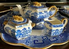 Auld Lang Syne, Willow Pattern, Blue And White China, Fine China, Ceramic Art, Tea Set, Cup And Saucer, Tiffany, Tea Cups