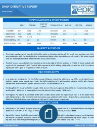 The Indian equity market closed with healthy gains on Monday starting off the week on a positive note. Reli- ance Industries stole the limelight after it announced better than expected quarterly results. The stock surged over 5% and single handedly lifted the Nifty by 22 points today.