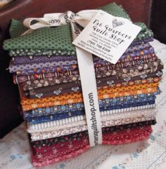 The fat quarter bundles are cut and ready for YOU... for the NEW collection of fabrics designed by Judie Rothermel for Marcus Fabrics ... Judie's Authentic Miniatures  :) $81.00 per bundle of 27 fabulous fat quarters ;-)