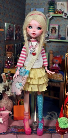 OOAK Custom Monster High doll Repaint Mattel/ by Nekomuchuu