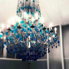 blue crystal chandelier image