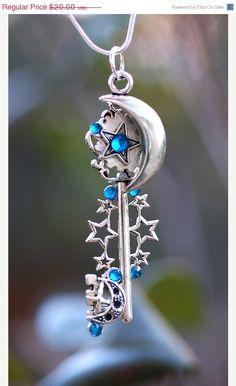 Stars of the Sky Key Necklace by KeypersCove on Etsy, $18.00