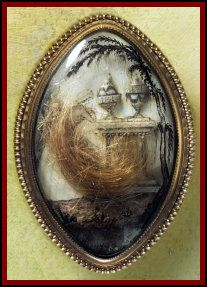 Mourning Brooch with Hair