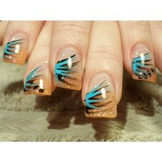 Simple and Cool Nail Art Ideas 2011 ❤ liked on Polyvore featuring beauty products, nail care and nail treatments