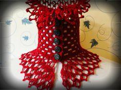 cachecol de crochê de steampunk