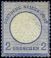 Briefmarke Brustschild 1874