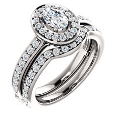 0.50 Ct Oval Diamond Engagement Ring 14k White Gold – Goldia.com