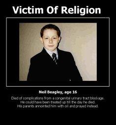 Faith healing #atheist #atheism