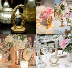 Gorgeous Wedding Table Number Ideas. To see more: http://www.modwedding.com/2014/06/03/gorgeous-wedding-table-number-ideas/ #wedding #weddings Via ZCreateDesign