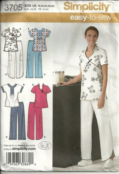 Use the coupon code BUY15GET2 to receive $2 off any purchase of $15 or more.   Misses' Scrub Pants and Top Pattern Simplicity by debspatterns55, $5.00