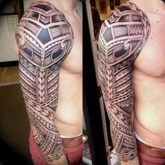 Awesome Tribal Sleeve Tattoo for Man
