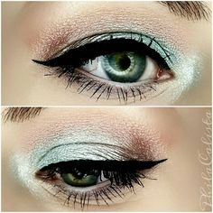 muzebeautyMakeup of the day  Products used: @bhcosmetics Galaxy Chic Palette, @essence_cosmetics Kajal pencil in 01 black, @catrice.cosmetics Liquid eyeliner in Dating Joe Black, @w7cosmetics Big Lash Mascara, @baborofficial White Kajal pencil,