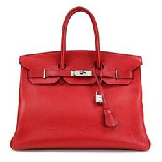 Hermes Birkin bag. I WANT! Don't we all.