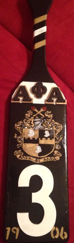 Custom Alpha Phi Alpha paddle #APhiA #Divine9 #1906 #D9 #BlackandGold