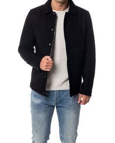 Jordy Wool Jacket Black