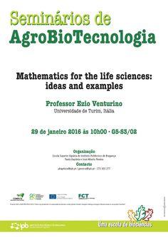 Seminários de AgroBioTecnologia: Mathematics for the life sciences: ideas and examples