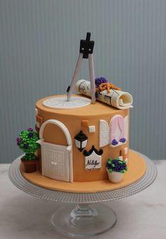 architecture cake - Cake by asli - CakesDecor Birthday Cake For Mom, Elegant Birthday Cakes, Cake Decorating Designs, Cake Designs, Architecture Cake, Anna Cake, Cake For Husband, Basic Cake, House Cake