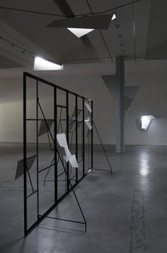 The Modern Institute / Exhibitions / Martin Boyce: 'Electric Trees and Telephone Booth Conversations', FRAC des Pays de la Loire, Carquefou, France, 2007 / Images Telephone Booth, Booth Design, Bar Stools, Modern Art, Minimalism, Sculptures, Exhibitions, Electric, Trees